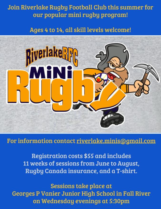 Mini Rugby Poster 2017